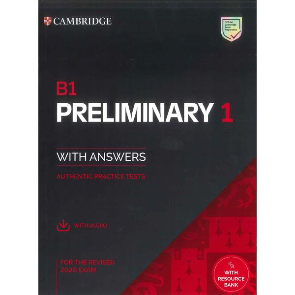 Authentic examination papers from Cambridge Assessment English provide perfect practice because they are EXACTLY like the real examInside B1 Preliminary for the revised 2020 exam youll find four complete examination papers from Cambridge Assessment English Be confident on exam day by working through each part of the exam and scoring system so you can familiarise yourself with the format and practise your exam technique The book contains transcripts sample Writing answers