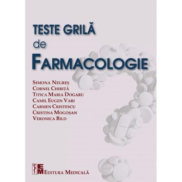 Prezenta carte a fost conceput&259; de c&259;tre cadre didactice de la toate disciplinele de Farmacologie din Facult&259;&539;ile de Farmacie cu tradi&539;ie din România pentru a veni în sprijinul studen&539;ilor &537;i absolven&539;ilor în vederea sus&539;inerii examenelor gril&259; de farmacologie din timpul facult&259;&539;ii a examenului de licen&539;&259; &537;i a concursului de reziden&539;iat Lucrarea are doua p&259;r&539;i importante