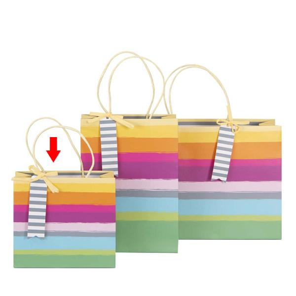 Punga Cadou Dungi Multicolore 18X16X8Cm - 204539 A204540