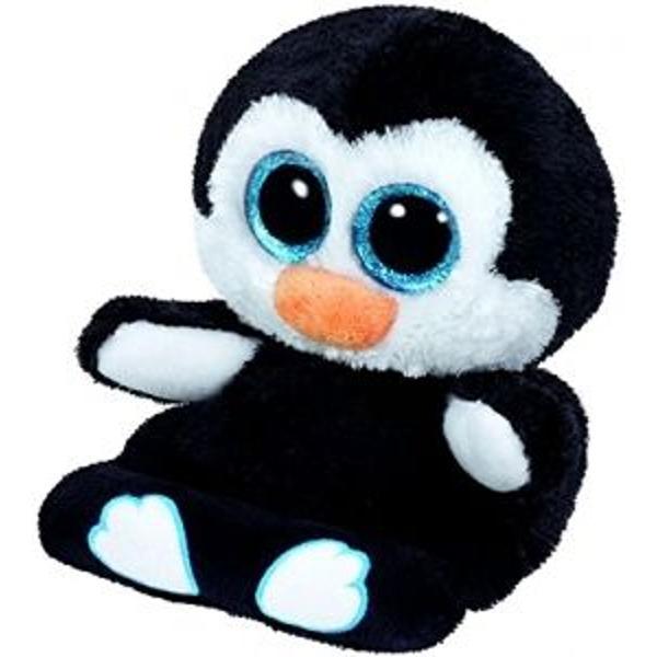 Jucarie plus 14 cm Peek a Boos PENNI penguin TY Talpa animalutelor Peek a Boos este realizata din microfibra destinata curatirii display-ului telefonului tabletei etc Poate fi folosit ca suport pentru telefon sau tableta