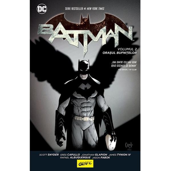 Un succes atât în rândul criticilor cât &537;i al publiculuiBatman Ora&537;ul bufni&539;elorcontinu&259; saga confrunt&259;rii Cavalerului Întunecat cu for&539;ele r&259;uluiVreme de mai bine de un secol Conclavul Bufni&539;elor a condus în secret Gotham City &822; puterea sa nu cuno&537;tea limite Pân&259; la confruntarea cu BatmanCavalerul Întunecat a reu&537;it s&259;