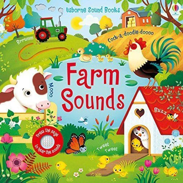Little ones will love bringing the farmyard to life with this adorable sound book Press the pages and hear hens clucking cows mooing and much more and pore over colourful scenes include a sheepdog rounding up sheep a piglet playing in the mud and ducks splashing in the pond With simple text holes to peep through and fingertrails to explore