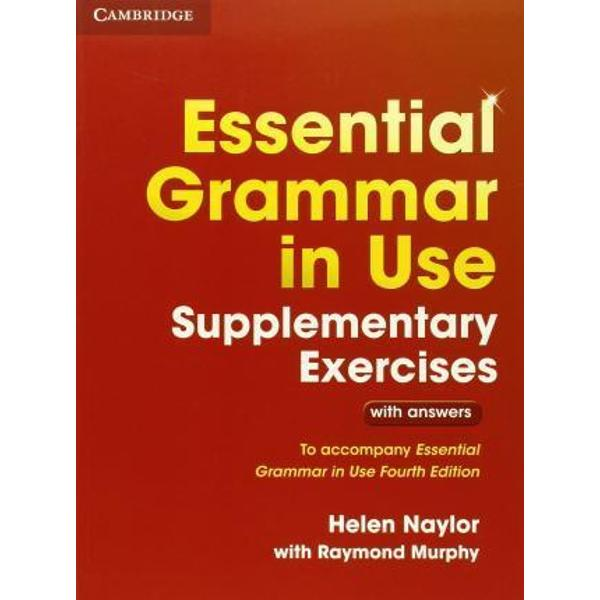 The worlds best-selling grammar series for learners of English To accompany Essential Grammar in Use Fourth edition Essential Grammar in Use Supplementary Exercises provides elementary-level learners with extra practice of the grammar covered in the main book The easy-to-follow exercises and full answer key make this supplementary book ideal for independent study Extra activities for Essential Grammar in Use are also available as a mobile app for smartphones and tablet devices available