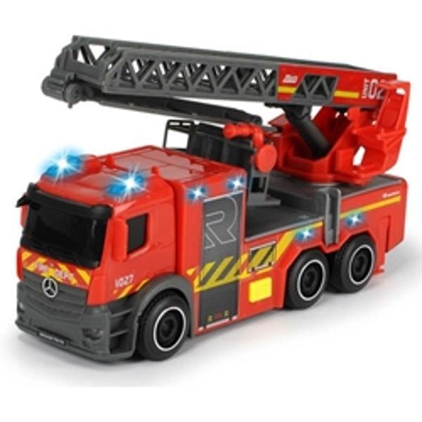 CaracteristiciOperatiunile de stingere a incendiilor este probabil cel mai interesant lucru pe care un copil il poate experimentaMasina de pompieri Dickie Toys este mereu in alerta asigurand astfel o distractie garantata copilului DvsMasinuta Dickie Toys are toate dotarile necesare unei masini de pompieri efecte luminoase efecte sonore scara mobilaFunctioneaza cu ajutorul bateriilor incluse in colet 3 baterii LR44 de