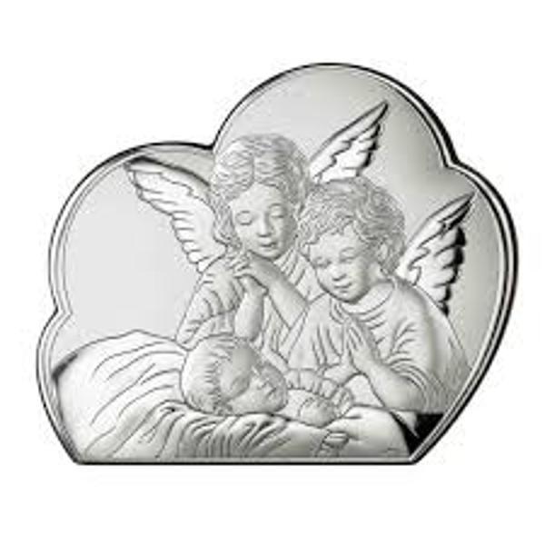Icoana Argint Inger Pazitor 19x155cm1 Icoana si Cutie Speciala de Cadou