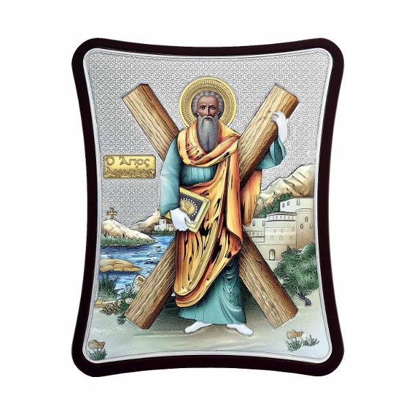Icoana Argintata Sfantul Apostol Andrei Apostolul Romanilor