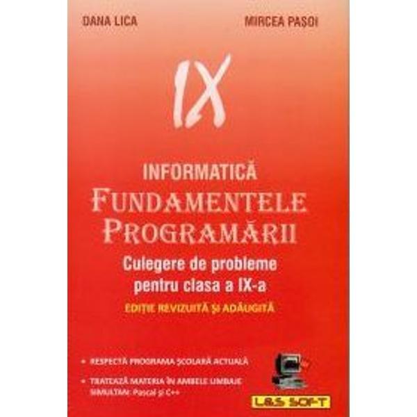 Informatica Fundamentele programarii culegere clasa a IX-a