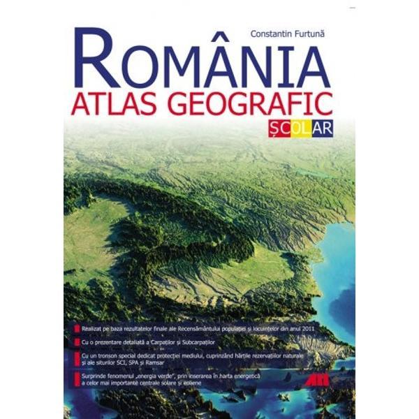 România Atlas geografic &537;colareste instrumentul ideal pentru studiul geografiei &539;&259;rii noastre H&259;r&539;ile digitale clare &537;i u&537;or de folosit sunt înso&539;ite de informa&539;ii de ultim&259; or&259; atent verificateAtlasul cuprinde- Date desprinse din rezultatele celui mai recent recens&259;mânt al popula&539;iei &537;i locuin&539;elor- O prezentare