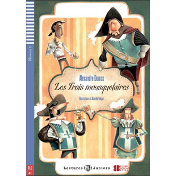Niveau CECRA2ThèmeNatureLes Trois Mousquetaires raconte les aventures d'un jeune homme de 18 ans d'Artagnan venu à Paris pour devenir mousquetaireDans cet ouvrage  des dossiers culturels  un glossaire des mots et expressions difficiles  des exercices DELF  des activités ludiques très variées