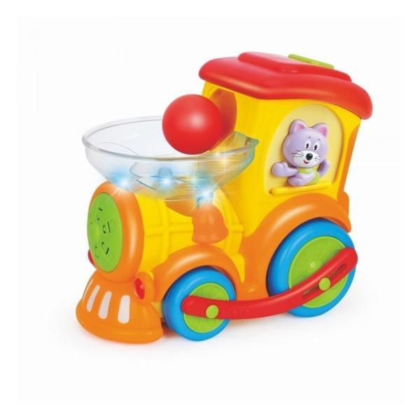 Locomotiva interactiva multifunctionala cu super activitati va fi un partener excelent pentru copiiTrenul magic va face ca bebelusul sa cante sa se joace si sa invete sa contezeVarsta recomandatade la 18 luni Trenuletul ofera 4 moduri de joc permitandu-i copilului sa-si dezvolte stabilitatea motricitatea coordonarea intelegerea cauzei pentru a realiza notiunea si a invata sa conteze in timp ce se distreazaModul 1 Trenul se roteste cu muzica in