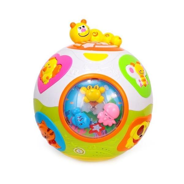 Mingea interactiva HolaToys va oferi copilului momente pline de distractie si veselieSunetele si luminile emise de catre aceasta ii starnesc curiozitatea descoperind noi moduri de a se juca Dezvolta perceptia vizuala si auditiva si coordonarea dintre maini si ochi Formele speciale si culorile vii incurajeaza copilul sa exerseze si sa se joace stimuland astfel dezvoltarea individualaImaginile produsului sunt cu titlu de prezentare culorile anumitor mici elemente pot
