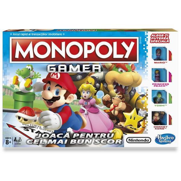 Monopoly a pregatit pentru voi o noua editie remarcabila Mario Luigi Printesa Peach si alte personaje din jocul faimos de la Nintendo se alatura domnului Monopoly si se pregatesc sa faca afaceri impreuna Ideea jocului ramane aceeasi sa obtii tot ceea ce iti doresti dar regulile se schimba putin Te vei lupta cu inamicii cei mai puternici pe care Mario ii are si vei incerca sa strangi cat mai multe puncte pentru a putea iesi