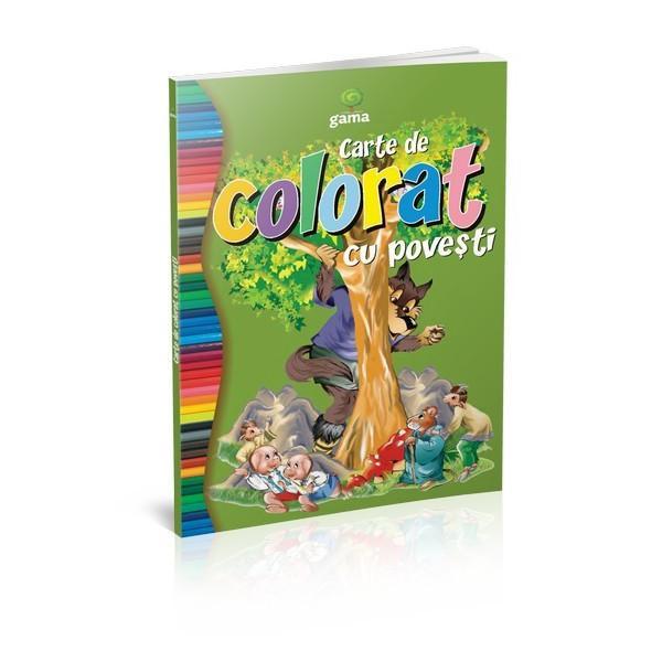 """""""Cartea de colorat cu pove&537;ti""""încurajeaz&259; copilul s&259; coloreze cele mai îndr&259;gite personaje din pove&537;tiFormatul mare desenele cu contururi precise &537;i catrenele amuzante fac coloratul mult mai distractiv &537;i interesant"""