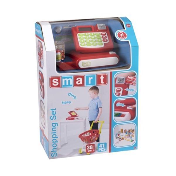 Sa mergem la cumparaturi Setul contine Casa de marcat carucior si accesorii pentru cumparaturi Acest set de jocuri promoveaza dezvoltarea imaginatiei interactiunii sociale comunicarii si ajuta la dezvoltarea abilitatilor matematice