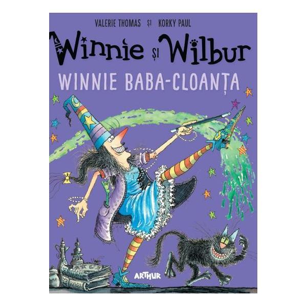 Winnie Baba-Cloan&539;a î&537;i duce veacul într-o cas&259; neagr&259; ca t&259;ciunele Fotoliile sunt negre sc&259;rile sunt negre podelele sunt negre &537;i ele pân&259; &537;i u&537;ile sunt tot negre Problema e c&259; Wilbur cotoiul lui Winnie e negru &537;i elWinnie va trebui s&259; fac&259; o vraj&259; sau dou&259; ca s&259; fie sigur&259; c&259; o s&259;-l vad&259; pe Wilbur pe oriunde s-ar tol&259;ni