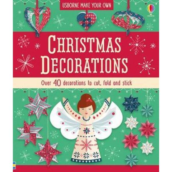 Learn how to create twelve different Christmas decorations with this festive paper crafts kit Includes 50 sheets of colourful patterned paper and a book with step-by-step instructions for making hanging ornaments paper chains a paper wreath angel and lots more