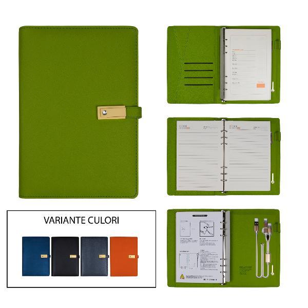 Agenda cu baterie externa 8000MAHDimensiune24x18cm66 pagini