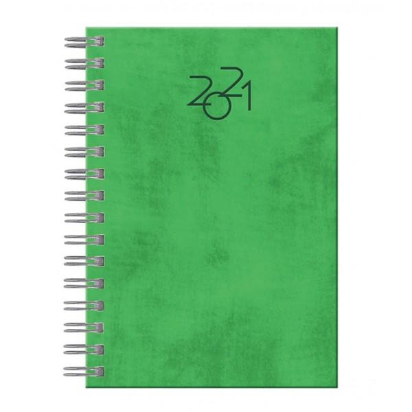 Agenda RTC Nuance A5 datata zilnic cu spira metalicaFormat A5Datata zilnic336 pagini  16 Harti A5Hartie albaGramaj interior hartie 60gmpTipar 2 culoriSemn de carte nuCoperti buretateAgenda datata zilnic A5 pentru anul 2021 contine un numar de 336 pagini  15 info fiind realizata din hartie de culoare ivorie din import cu un gramaj de 60 gmpAgenda este prinsa cu spira dubla si este