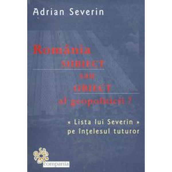 Romania subiect sau obiect al geopoliticii