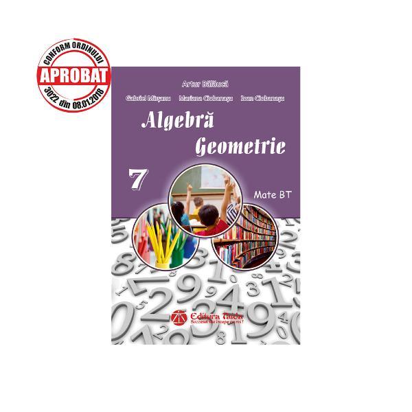 Culegere de algebra si geometrie clasa a VII-a