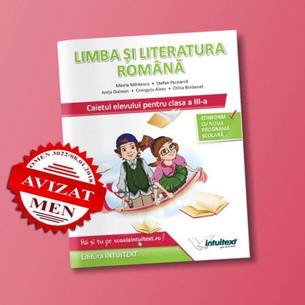 Limba si literatura romana caietul elevului clasa a III a