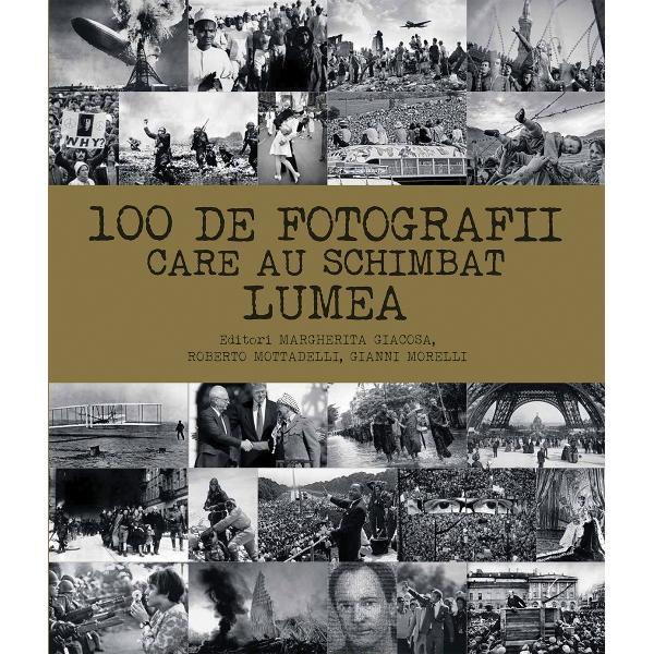 O carte-album de colectie cu cele mai importante 100 de fotografii din istoria lumii si descrierea istoriei acestoraMomente m&259;re&539;e din istorie imortalizate &238;n 100 de fotografiiDe la deschiderea morm&226;ntului faraonului Tutankhamon la primul zbor al fra&539;ilor Wright de la ciuperca atomic&259; din Nagasaki la prima aterizare pe lun&259; cele 100 de fotografii marcheaz&259; momentele cele mai impactante din istoria omenirii Acestea ne reamintesc nu numai c&259;