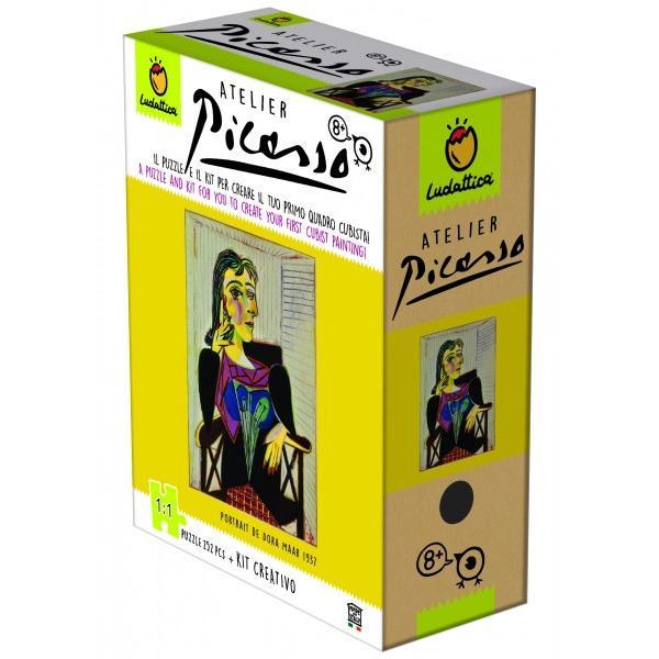 CON&538;INE252 de piese puzzle rezistente din carton gros;Dimensiune puzzle 33x44 cm;O cutie cu 12 culori;creion HB;Dimensiune panza 15x24 cm;Sablon;Carticica instructiuniDimensiune produs210 x 270 x 100 cm