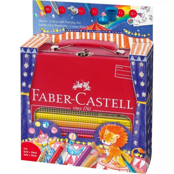 Creioane colorate triunghiulare concepute special pentru a se potrivi de minune in mainile micilor artisti Zona patentata Grip asigura un confort sporitSetul contine 25 de creioane colorate