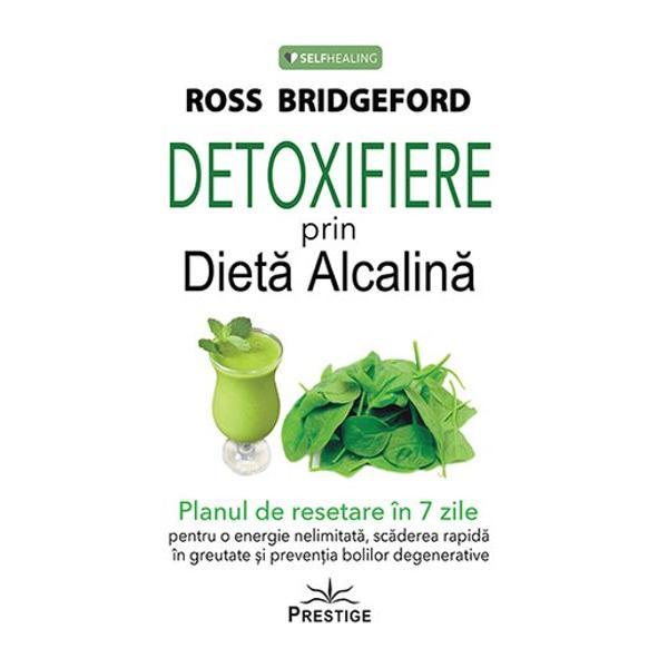 Descriere Detoxifiere prin Dieta AlcalinaEchilibrul - egal viata La baza corpurile noastre fac din noi niste luptatori pentru ca organismul va lasa totul balta spre a obtine echilibrul Atunci cand dezechilibram un sistem ne fortam organismul sa faca ceea ce a fost conceput sa faca in mod natural Detoxifiere prin Dieta Alcalina este un mod diferit de gandire asupra organismului nostru despre cum sa ne putem reface vindeca si reporni rapid spre o sanatate optima Telul suprem