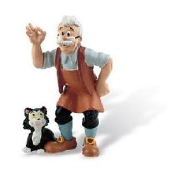 Figurina jucarie reprezentand personajul din desene animate Gepeto     Detalii foarte asemanatoare cu cele reale    Figurina are un