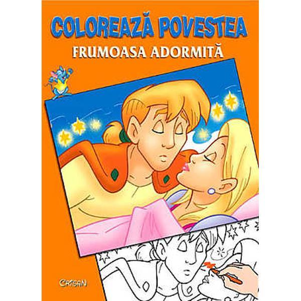 Frumoasa Adormita Coloreaza povestea
