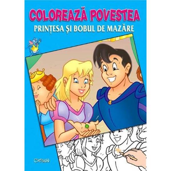 Printesa si bobul de mazare Coloreaza povestea