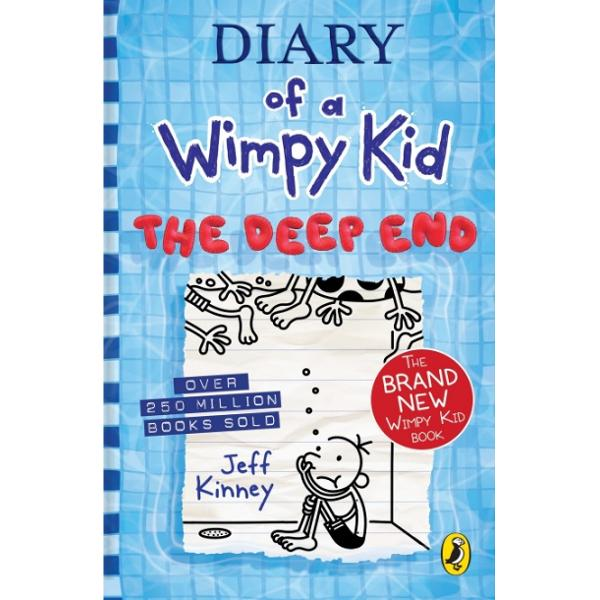 In The Deep End book 15 of the Diary of a Wimpy Kid series from 1 international bestselling author Jeff Kinney Greg Heffley and his family hit the road for a cross-country camping trip ready for the adventure of a lifetimeBut things take an unexpected turn and they find themselves stranded at a campsite thats not exactly a summertime paradise When the skies open up and the water starts to rise the Heffleys wonder if they can save their vacation - or if theyre already in too