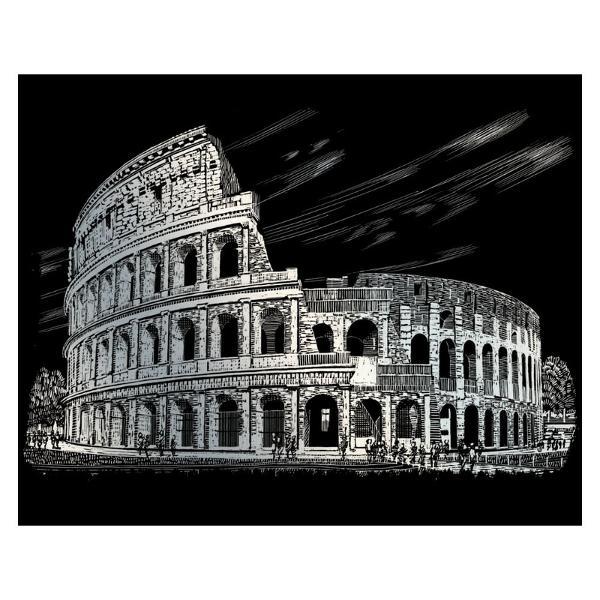 Gravura pe folie argintie-ColosseumGravura pe folie argintie-Colosseumte invita sa petreci cateva ore in compania celei mai vechi forme de exprimare artistica de cand exista omul pe pamant Placa neagra predesenata in tonuri fine de gri inchis te va ghida in noua ta calatorie poate chiar initiatica Nu stii niciodata ce pasiuni va trezi in interiorul tauul stylefont-weight