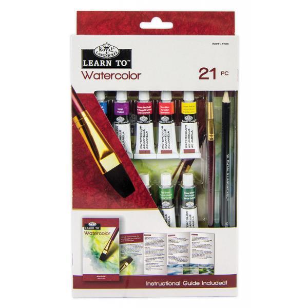Continut - 21 piese 10 tuburi cu acuarela 5 ml 8 coli de hartie pentru pictura cu acuarele 1 creion cu mina din grafit 1 pensula 1 brosura cu instructiuni de utilizareDimensiune pachet 1524 x 2635 x 223 cm