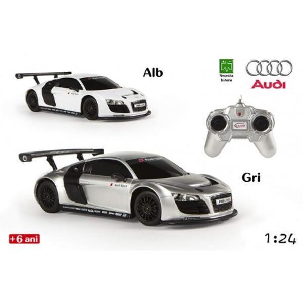 MasinaAudi R8de la RaStar este o jucarie pentru baieti care imita pana in cele mai mici detalii masina Audi Modelul elegant si aerodinamic confera unicitate jucariei printre jucariile de gen Aceasta poate aduce ore nelimitate de amuzament copiilor pasionati de viteza si masiniMasina include o radiocomanda facuta pentru cei mici