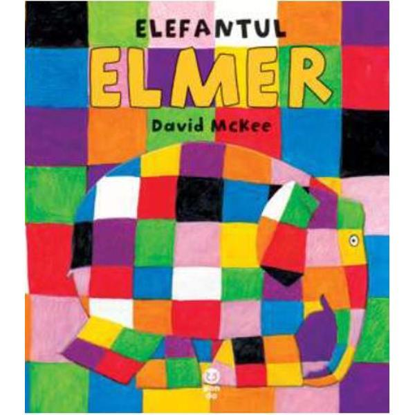 Elefantul Elmer e multicolorNu-i de mirare ca toti ceilalti elefanti rad de el Daca ar arata ca un elefant obisnuit poate ca ceilalti n-ar mai radeIar Elmer s-ar simti mai bine nu-i asa Concluzia surprinzatoare a povestioarei lui David McKee e aceea ca trebuie sa te bucuri ca esti diferit si ca poti sa-i faci sa se amuze pe cei din jurul tauInca de