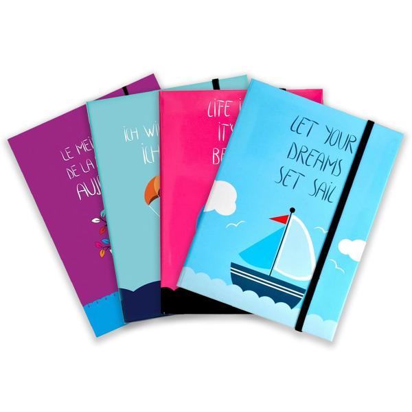 Din gama de agende Arhi Design face parte si modelul de agenda de tip notes cu liniaturavelinAgendacuprinde160 paginirealizate din hartie offset de70gmpCopertile agendei sunt vesele colorate inscriptionate cu diferite mesaje motivationaleLa sfarsitul agendei se regasesc8 pagini