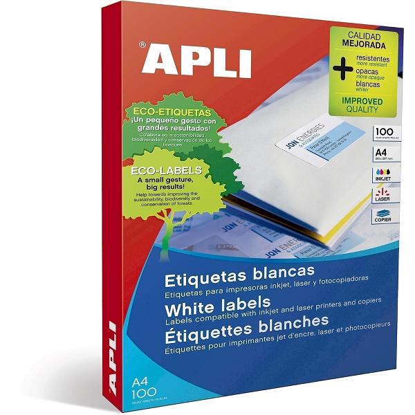 Etichete autoadezive albe cu colturi drepte pentru imprimante laser si copiatoare Format A4Unitate de vanzare 100 colitop