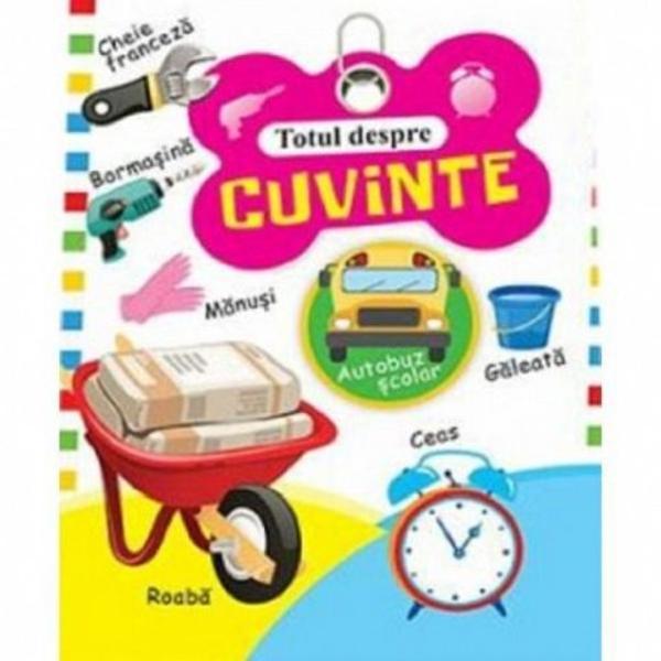 Aceasta carte cu imagini colorate ii ajuta pe cei mici sa invete mai usor primele cuvinte