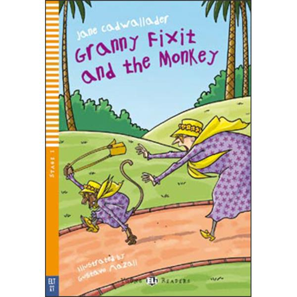 CEFR LevelBelow A1ThemeAnimalsGranny Fixit Lucy and Bill race through a bio park chasing a naughty monkeyIn this funny adventure in a biopark a monkey takes Granny Fixit's small yellow bag What does the monkey take out of the bag And What can Granny Fixit Lucy and Bill do to get it backimg