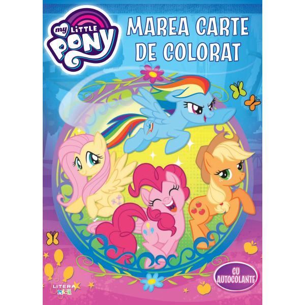 Al&259;tura&539;i-v&259; personajelor preferate My Little Pony &238;ntr-o nou&259; aventur&259; &238;n aceast&259; carte de colorat cu  autocolante