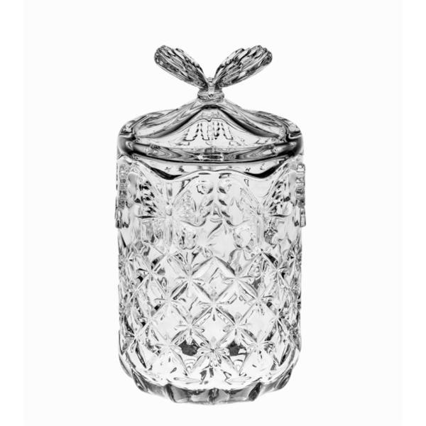 Daruieste un cadou clasic si mai mult decat atat util Bomboniera cu capac si maner in forma de fluture Este fabricata din Cristal de Boemia 24 PbO