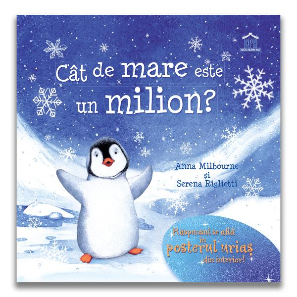 Cât de mare este un milion este o poveste ilustrat&259; marca Usborne care se adreseaz&259; copiilor cu vârsta peste 3 ani O carte cu totul nou&259; care ajut&259; copiii s&259; în&539;eleag&259; conceptul de numere mari &537;i s&259; cuantifice exact cât de mare este un milion Pipkin cel mai mic pinguin pune mereu întreb&259;ri dar ceea ce vrea s&259; &537;tie mai ales este cât de mare este un milion Astfel