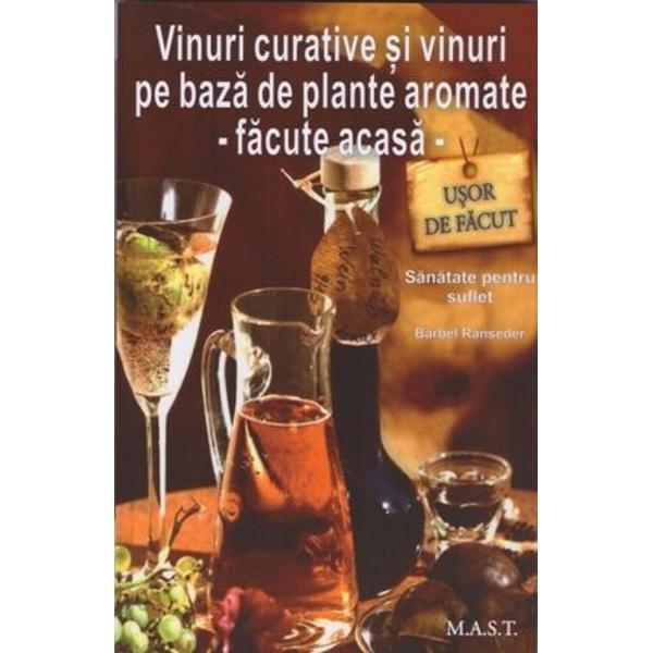 Vinurile pe baz&259; de plante&351;i vinurile curative f&259;cute în cas&259; nu numai c&259; s-au dovedit a fi eficiente în tratamentul natural al unor boli ci pot fi folosite &351;i ca ingrediente pentru multe feluri de mâncarePaleta de plante medicinale care se pot macera în vin este foarte larg&259; de la Angelica la pelin negruDin acest motiv cartea nu se limiteaz&259; numai la a prezenta care sunt efectele benefice ale acestor