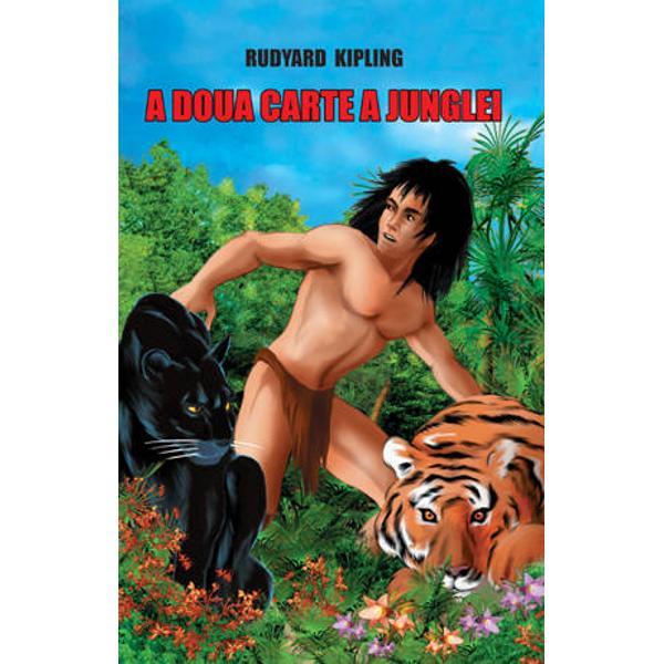Cuprinsul cartii A doua carte a junglei pe capitoleCum s-a instapanit frica5Legea Junglei29Minunea lui Purun Bhagat32Cantecul lui Kabir52Jungla se intinde peste vale54Cantecul lui Mowgli impotriva oamenilor91Pradatorii de starvuri93Cantecul undelor123Ankusul regelui124Cantecul vanatorului148Quiauern150Angutivun Tina182Caine Rosu184Cantecul lui Chil219Iuresul primaverii221Cantec de ramas bun251Baloo251Kaa252Bagheera253Toti trei impreuna254