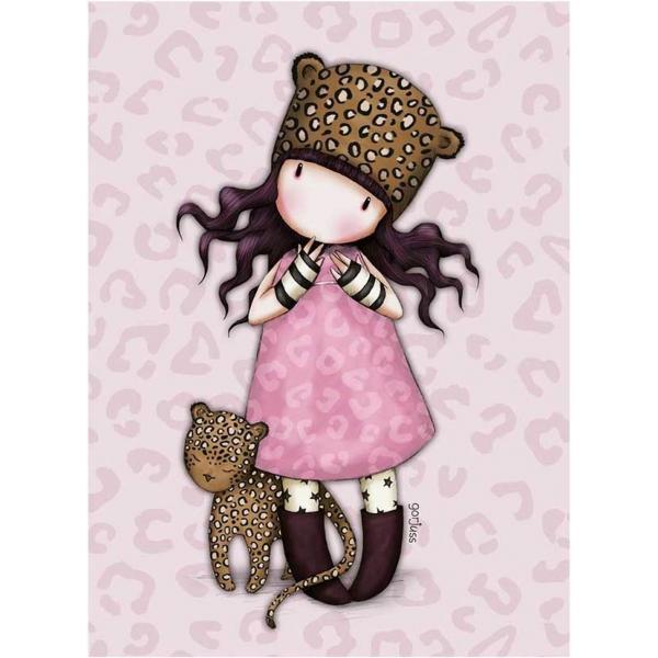 Felicitare Gorjuss Purrrrrfect SpotsFelicitare Gorjuss Purrrrrfect Spots este un cadou absolut adorabil pentru persoanele dragi cu ocazia unei aniversari sarbatori sau chiar si si pentru alte ocazii Frumusetea aceste felicitari este data de cromatica si desing-ul extrem deelegant Purrrrrfect Spots este o micuta fetita Gorjuss ce adora pisicile si felinele aceasta fiind ilustrata cu o adorabila pisica leopard Felicitarea este si mai frumoasa datorita