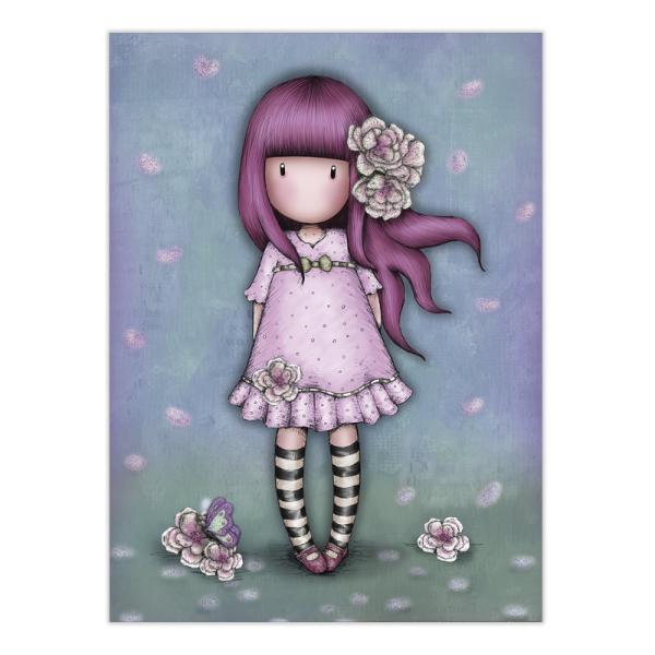 Felicitare Gorjuss Cherry BlossomFelicitare Gorjuss Cherry Blossomeste un cadou absolut adorabil pentru persoanele dragi cu ocazia unei aniversari sarbatori sau chiar si si pentru alte ocazii Frumusetea aceste felicitari este data de cromatica si desing-ul extrem deelegant Cherry Blossomeste o micuta fetita Gorjuss imbracata in roz si inspirata din frumusetea si mirosul florilor de cires de care aceasta este inconjurata Felicitarea este si