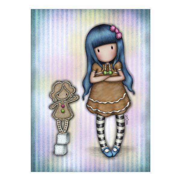 Felicitare Gorjuss Gingerbread GirlFelicitare Gorjuss Gingerbread Girl este un cadou absolut adorabil pentru persoanele dragi cu ocazia unei aniversari sarbatori sau chiar si si pentru alte ocazii Frumusetea aceste felicitari este data de cromatica si desing-ul extrem deelegant Gingerbread Girl este o micuta fetita Gorjuss ce doreste sa aduca ceva dulce in viata ta fiind inconjurata de turta dulce Felicitarea este si mai frumoasa datorita