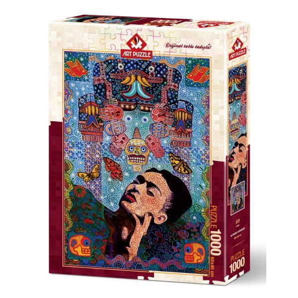 Puzzle 1000 piese - Frida-Alfredo ArreguinRezolva si tu acestpuzzle 1000 piese Frida-Alfredo Arreguinsi da-ne un feedbackA incerca sa ne tinem departe de ecrane dispozitive chiar si de televizor poate fi o sarcina aproape imposibila dar este vitala pentru sanatatea noastra mentala si chiar fizica Un puzzle necesita toata atentia noastra si aici se afla magia Toata lumea de la